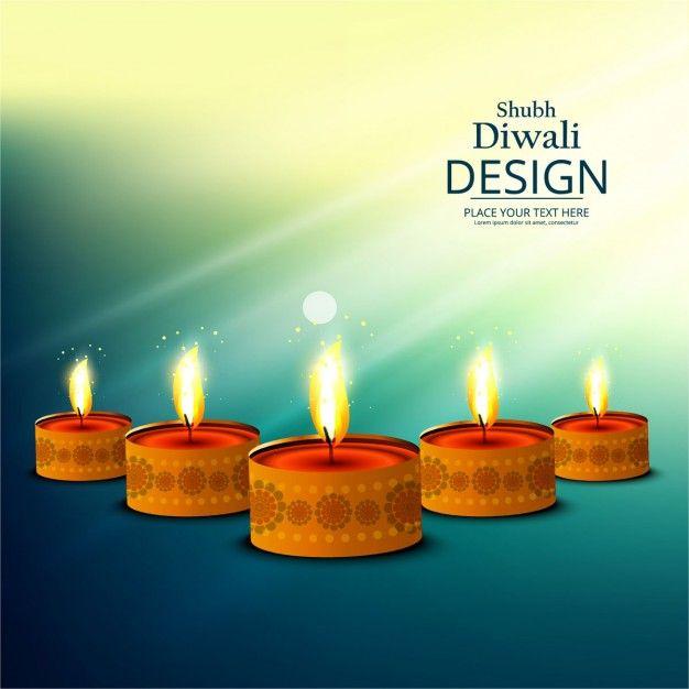 Shubh Diwali Design oil lamp glowing on abstract background - http://www.cgvector.com/shubh-diwali-design-oil-lamp-glowing-abstract-background/