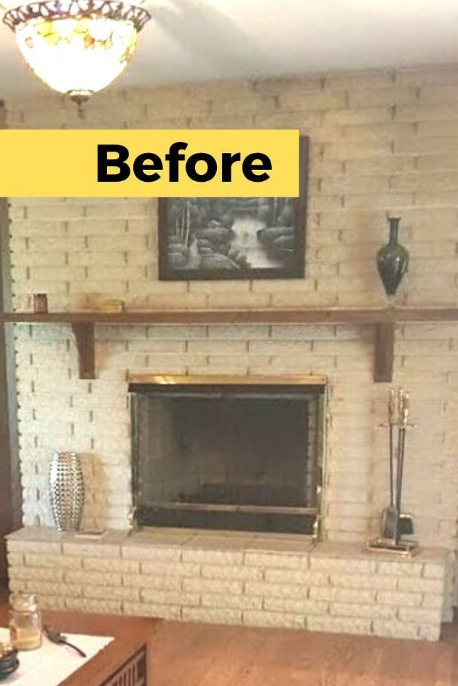 Diy Before And After Fireplace Remodel Idea In 2020 Fireplace Remodel Brick Fireplace Makeover Decor