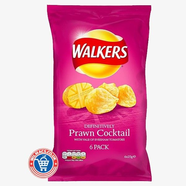 Walkers Prawn Cocktail Crisps With  every tasty crunch, experience the savoury flavours of delicious chilli, onion and herbs, building to a moreish kick of sweet, satisfying heat.  Read here: http://goo.gl/cQNBgt