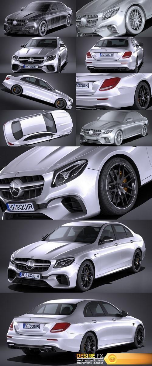 Mercedes E63 AMG 2017 http://www.desirefx.me/mercedes-e63-amg-2017-3d-model/