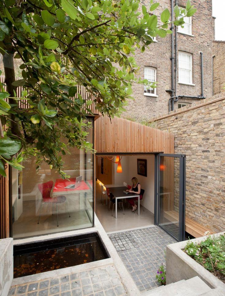 flow between building and garden