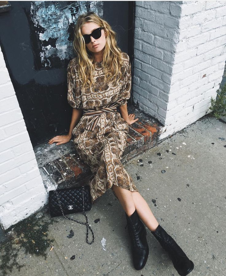 Get ahead of the spring trends with front-tie bohemian dresses and ankle boots