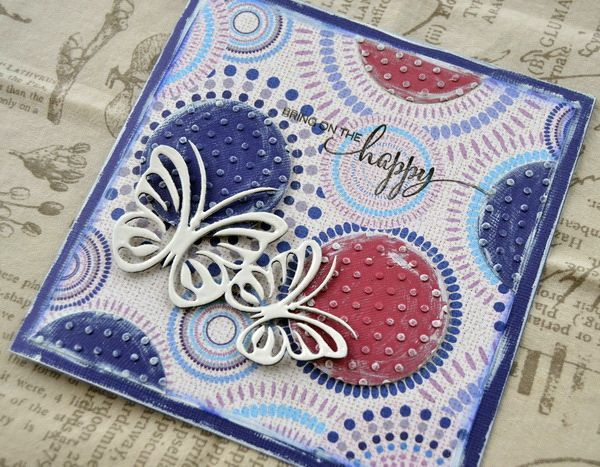 A Birthday Card using the Kaleidoscope Collection from FabScraps and the Sizzix Bigz Die - Circles