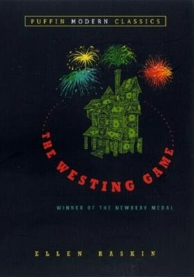 "The Westing Game - ""This highly inventive mystery involves sixteen people who are invited to the reading of Samuel W. Westing's will. They could become millionaires, depending on how they play the tricky and dangerous Westing game, which involves blizzards, burglaries, and bombings. Ellen Raskin has entangled a remarkable cast of characters in a puzzle-knotted, word-twisting plot filled with humor, intrigue, and suspense."""