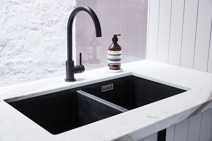 The Style School Season 3 by Rebecca Judd featuring our Matte Black Kitchen Mixer Tap. For more, visit www.meir.com.au/ #MeirAustralia #matteblack #blacktapwear #kitchen
