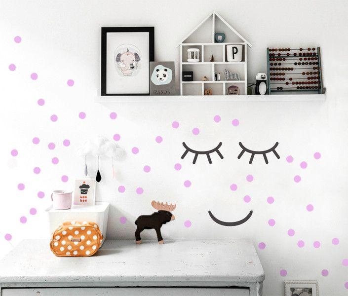 Luxury Wandtattoo Kinderzimmer Punkte a cm Dots