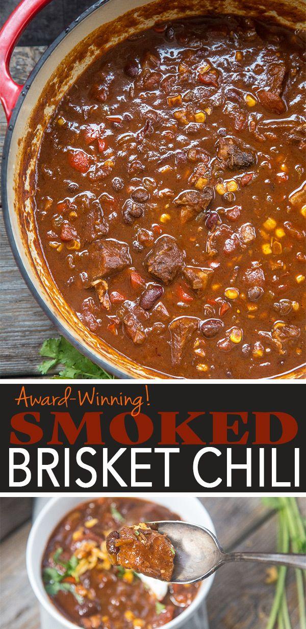 Smoked Brisket Chili Recipe And Video Vindulge Recipe Brisket Chili Recipe Smoked Food Recipes Smoked Brisket Chili Recipe