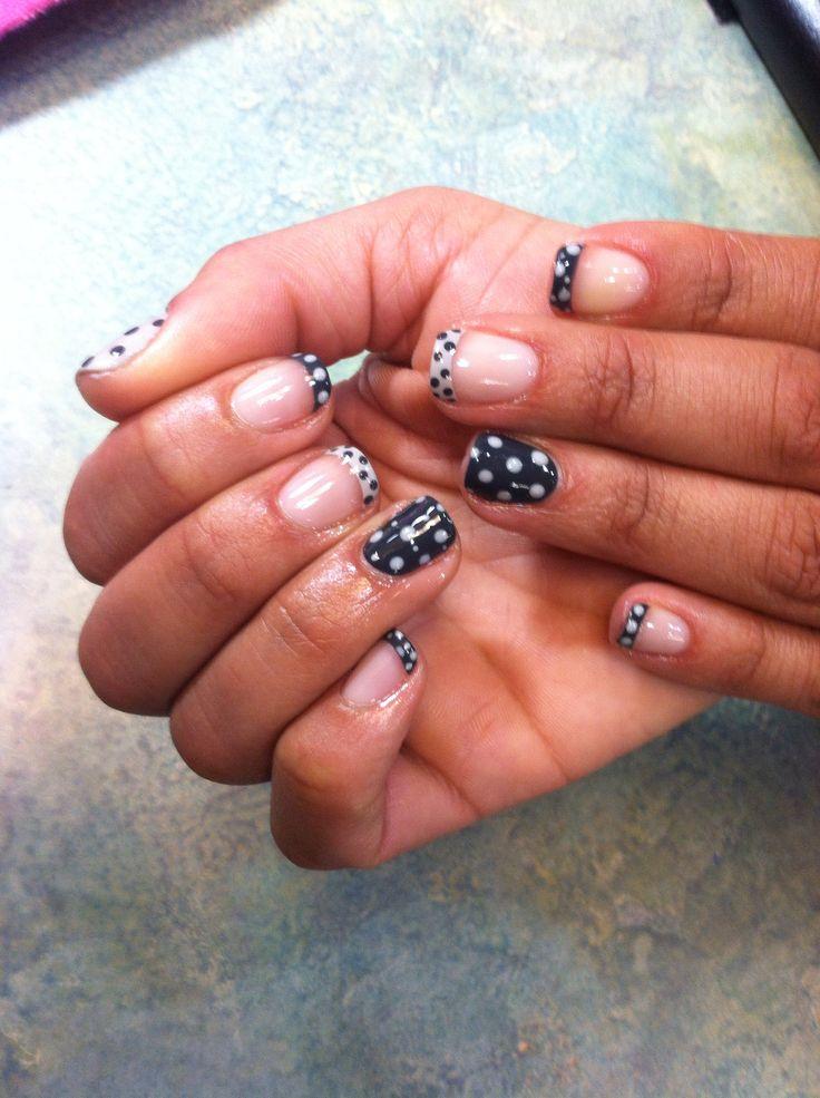 Uñas, Winter Nails, Polka Dots Nails Design, Nails Art Design Shellac