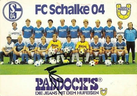 Schalke 04 of West Germany team group in 1984-85.