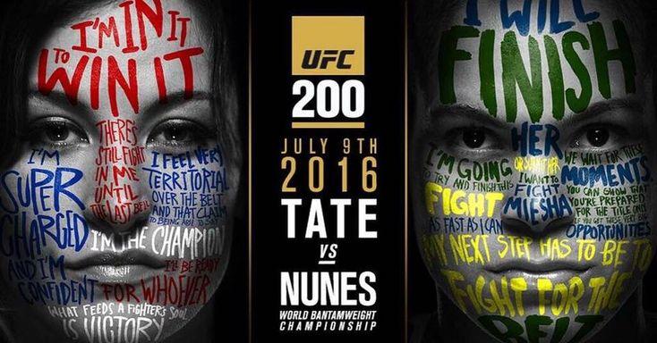 Miesha Tate will defend her belt against Amanda Nunes at UFC 200