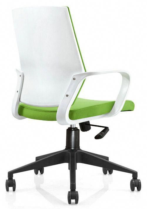 Cheap Rolling Chairs High Office Hot Sale Plastic Back Fabric Swivel Staff Chair Visitor With Adjustable Height Nylon Base China Foshan Computer