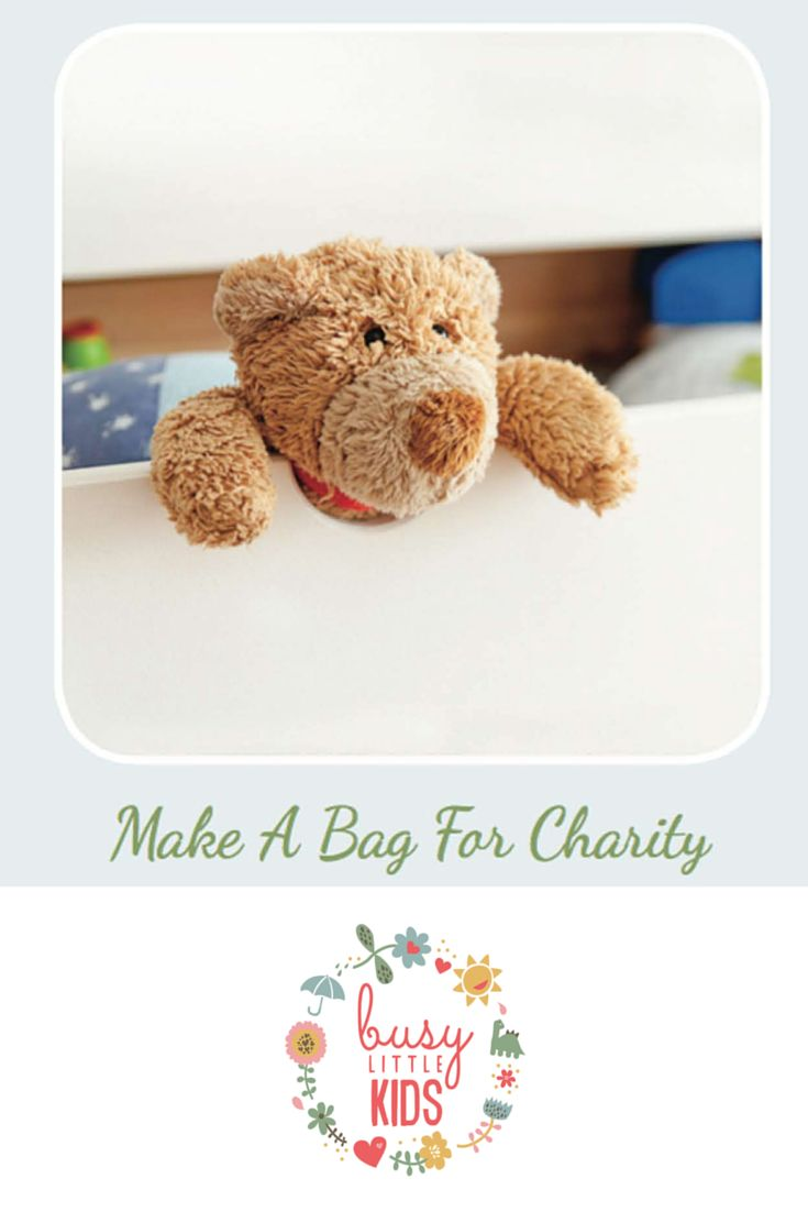 Fun, simple, easy rainy day kids activity - Make a Bag For Charity