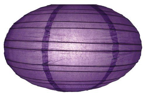 """16"""" Dark Purple Saturn Paper Lantern by Asian Import Store, Inc.. $4.50. (All lanterns sold without lighting, lighting kits must be purchased separately). Lantern is held open with a wire expander.. This Saturn paper lantern has a unique UFO shape.. Dimensions: 16"""" dia x 9""""H. This Saturn paper lantern has a unique UFO shape. Lantern is held open with a """"C"""" hook expander.  Dimensions: 16"""" dia x 9""""H  (All lanterns sold without lighting, lighting kits must be purchased s..."""