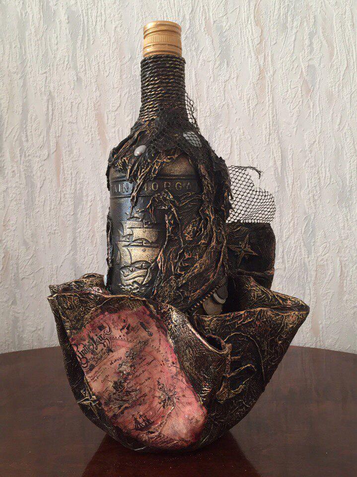 """Подарочная бутылка"""" Капитан Морган"""". Исполнитель: Белованова Зинаида"""