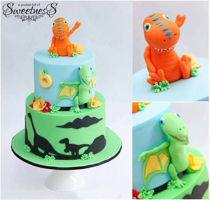 10+ Images About DINO Fondant Cake On Pinterest