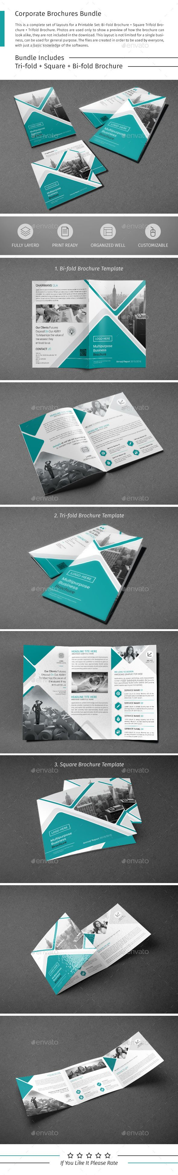 Brochure Bundle Template PSD. Download here: http://graphicriver.net/item/brochure-bundle-06/15485235?ref=ksioks