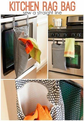 Kitchen Rag Bag Sew A Straight Line Craft Ideas Pinterest