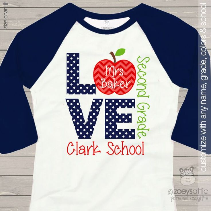 Love School Teacheru0027s Personalized Raglan Shirt