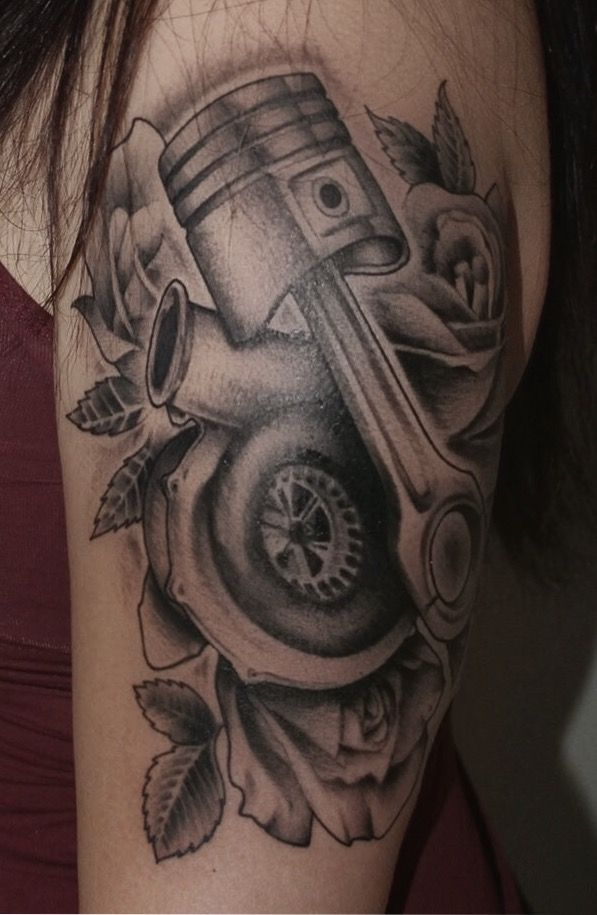 Ink Tattoo Inked Turbo Piston Turbotattoo