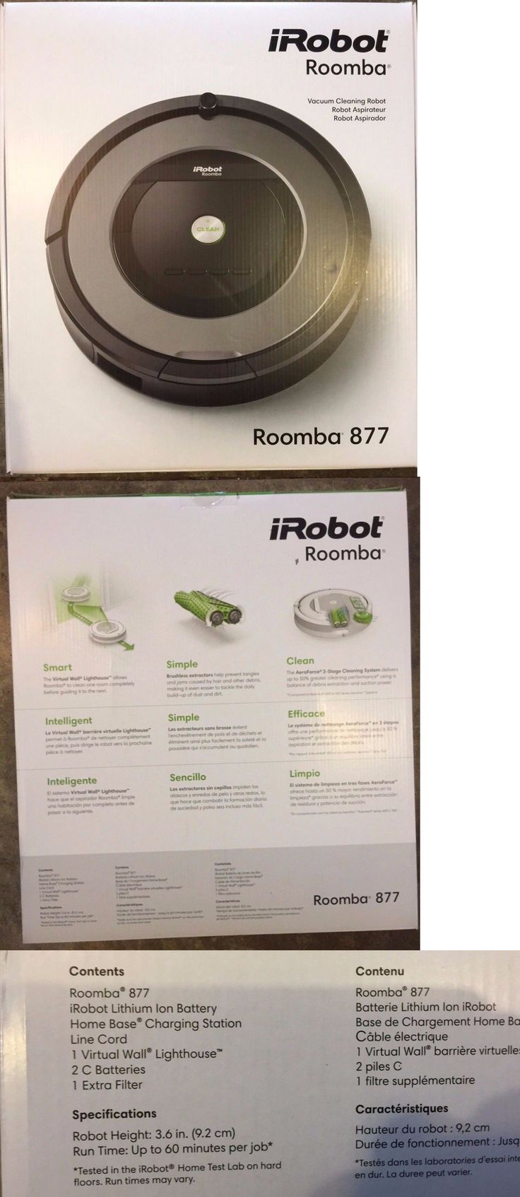 Home Automation Kits: Brand New Irobot Roomba 877 Robotic Vacuum Cleaner, Warranty, Retail Receipt BUY IT NOW ONLY: $409.75