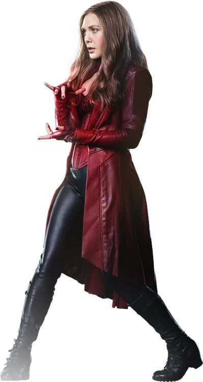 Judianna Makovsky's design for Elizabeth Olsen as Wanda Maximoff/Scarlet Witch in Captain America: Civil War