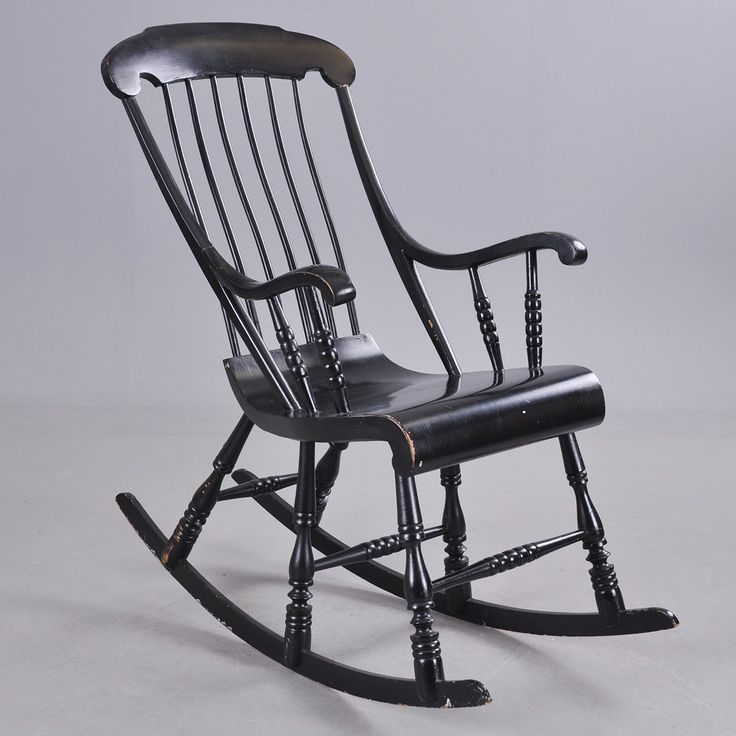 "This is the Swedish version of the rocker, the six legged ""gungstol."" While the original model premiered around 1740, this one is a later production featuring the same rolled seat as the 19th-century Boston rocker. (photo: Auktionshuset/LiveAuctioneers.com) Check out this awesome WorthPoint article!"