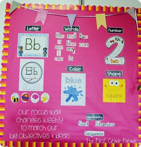 Mrs. Bremer's Class: Let's FOCUS! {Focus Board/Objectives Board Inspiration}