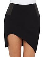 Shakuhachi Leather Block Structure Skirt  #davidjones #shakuhachi #skirt #leather #luxe #structure #style #designer #fashion #chic #modern