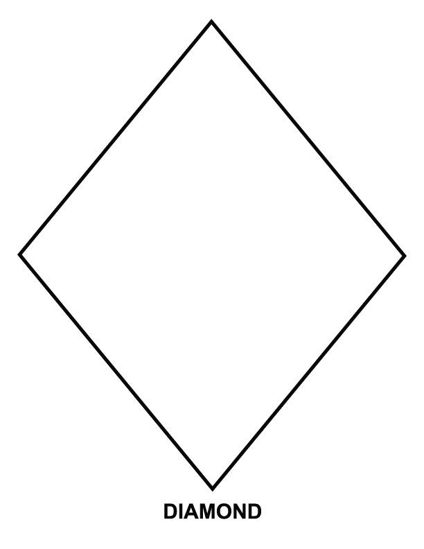 preschool art pattern and coloring pages | diamond coloring page | Download Free diamond coloring ...