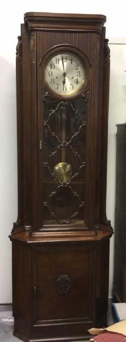 Antique Grandfather Clock Germany C 1920 Antique, : Lot 21