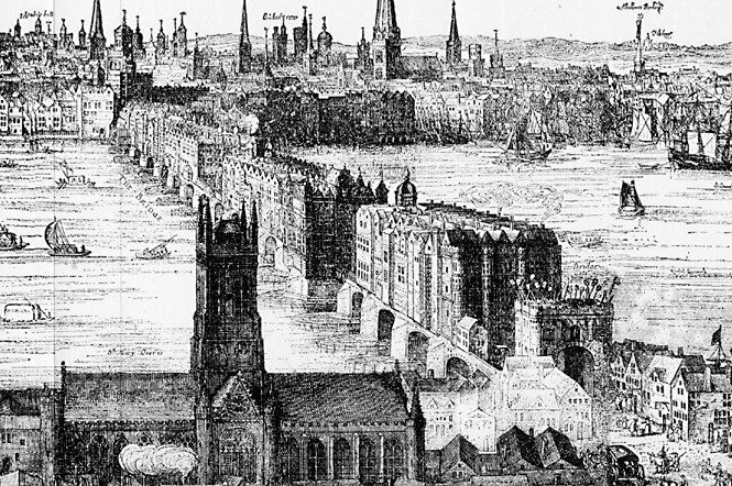 London_Bridge (1616) by Claes Van Visscher