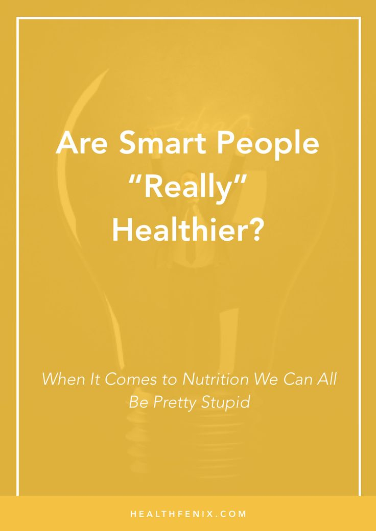 "Sometimes being ""smart"" isn't enough to get a handle on diabetes or inflammation...  When it comes to nutrition we can all be pretty stupid..."