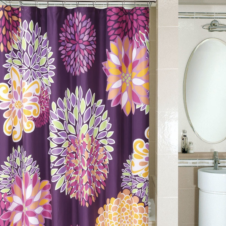 Spice up your shower with this bright and fun curtain  Best 25 Fun curtains ideas on Pinterest Diy bath mats