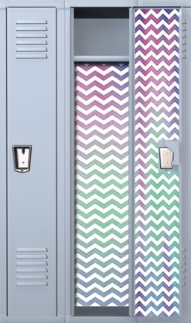 "Or in this case, ""locker"" ideas - Neon Chevron Locker Wallpaper"