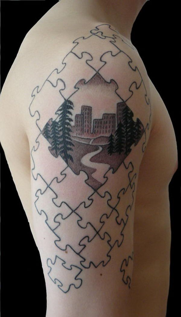 best 25 puzzle piece tattoos ideas on pinterest partner tattoos couples tattoo designs and. Black Bedroom Furniture Sets. Home Design Ideas