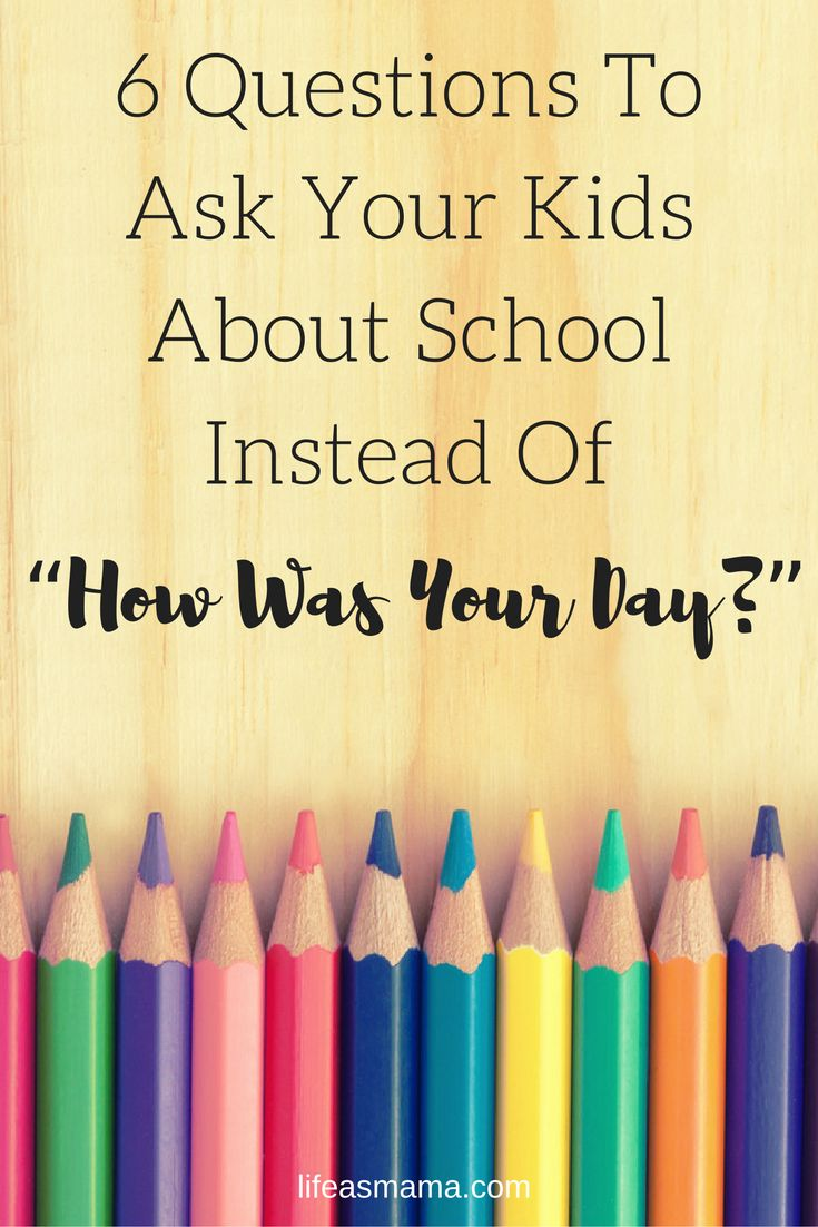 """How was your day?"" The dreaded after school question for your kids, that's…"