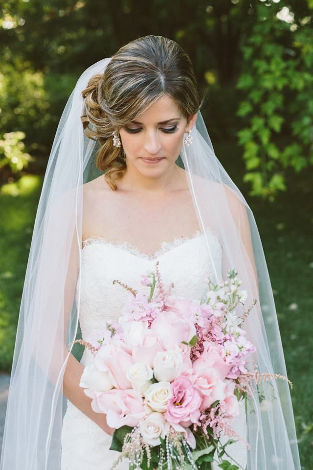 Pretty Pink and White Wedding Bouquet