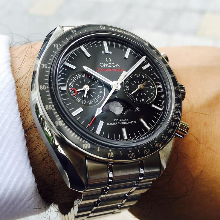 The new Omega Speedmaster Moonphase Chronograph.
