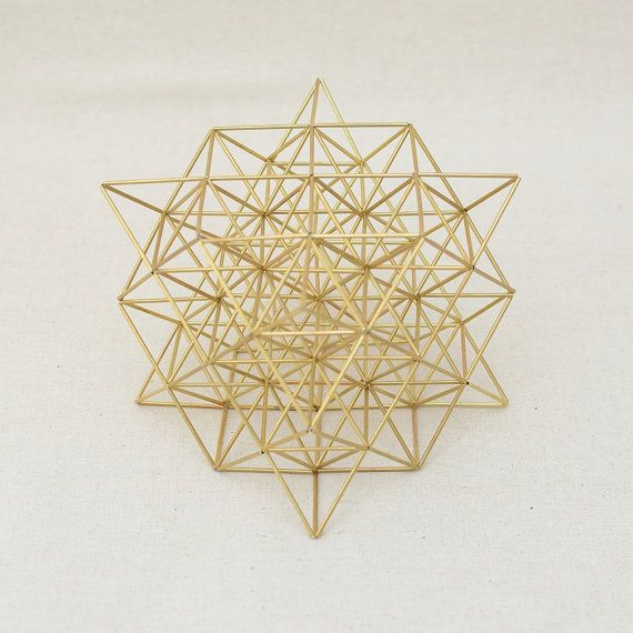 Fine FLOWER OF LIFE 3D by Nassim Haramein, Himmeli Hanging Brass Mobile Home Decor, best wedding decor for all cultures and religious. This is