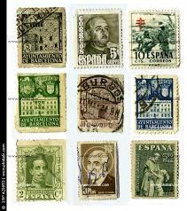 Varios sellos antiguos españoles. Madrid