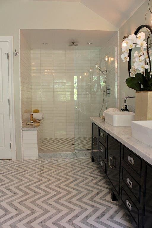 shower - marble threshhold