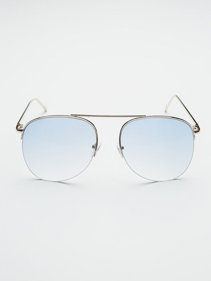 Suki Sunnies | Metal-framed aviator sunnies featuring a statement top bar.    * Colored frames with a faded design.