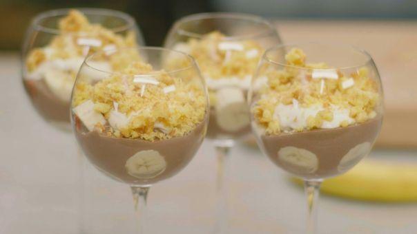 Eén - Dagelijkse kost - Chocoladepudding met banaan