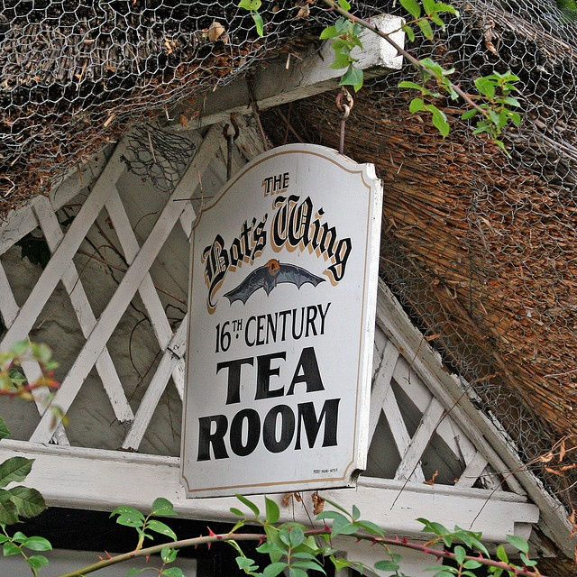 The Bat's Wing 16th century tea room, Isle of Wight, England