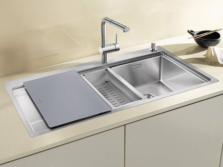 silver glass cuttig board for blanco divon sinks accessories. beautiful ideas. Home Design Ideas
