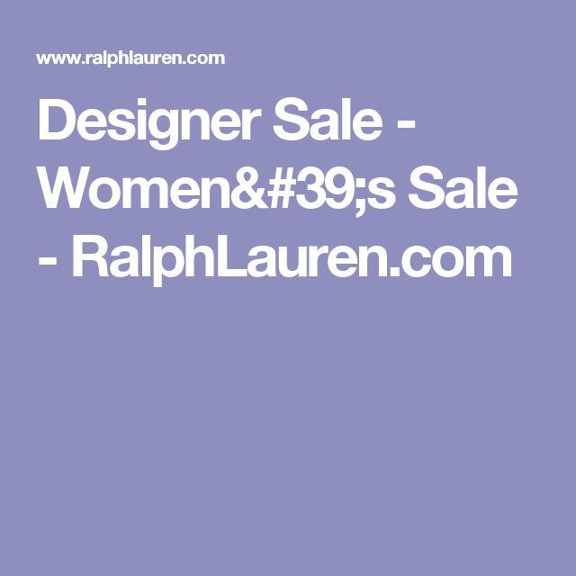 Designer Sale - Women's Sale - RalphLauren.com