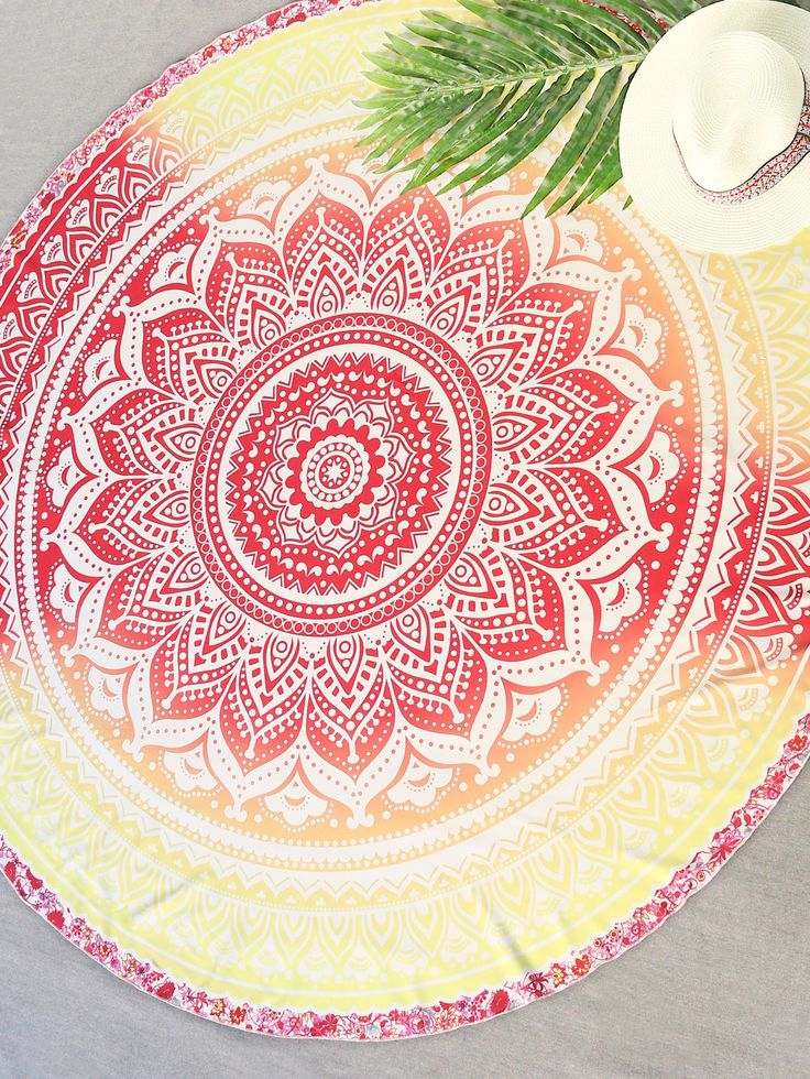 Shop Red And Yellow Printed Round Beach Blanket online. SheIn offers Red And Yellow Printed Round Beach Blanket & more to fit your fashionable needs.