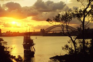 Click here for information on this Sydney and the Tall Ship Bounty. You can buy handmade greeting cards with this photo for just $4.50 delivered. www.theshortcollection.com.au/Sydney