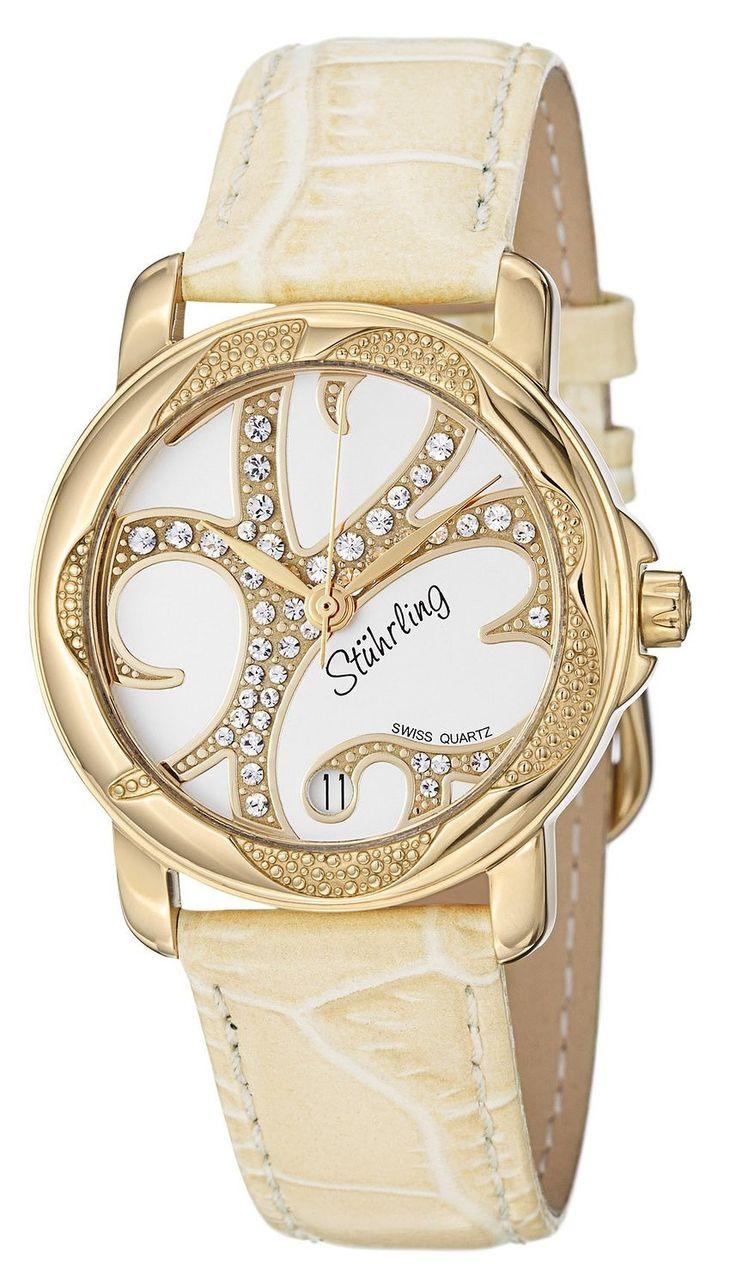 Reloj Stuhrling Original Vogue Audrey Isis de cuarzo suizo con diamantes Swarovski  | Antes: $1,125,000.00, HOY: $269,000.00
