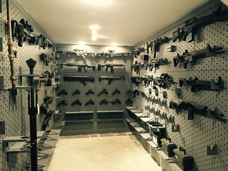 Gun Room - Safe Room  Gun collection.   Gun wall.   Secret room.  Hidden room.   Military guns